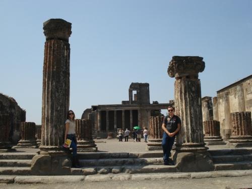 Foto das escavações de Pompéia - Italia